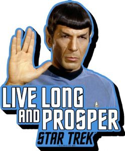 Mr Spock Star Trek Live Long Quote chunky thick fridge magnet    (nm)